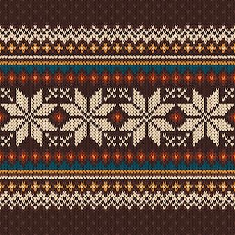 Motif tricoté vintage