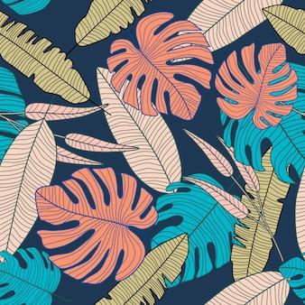Motif tropical abstrait