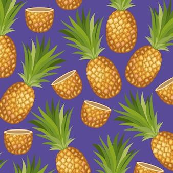 Motif tropical d'ananas frais