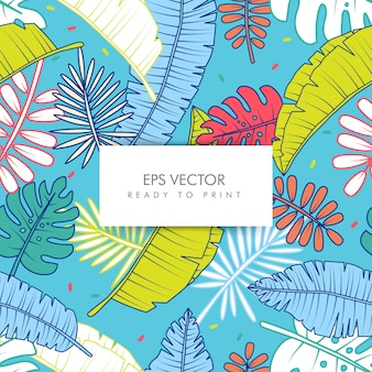 Motif tropical de couleur