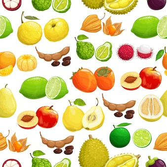 Motif tropical de fruits