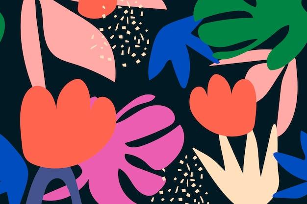 Motif tropical sans soudure de fond vecteur de conception colorée funky