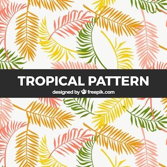 Motif tropical avec de la végétation