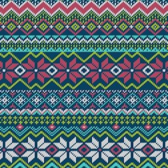 Motif de vacances d'hiver tricoté lumineux transparente