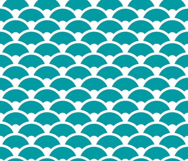 Motif de vague sans couture bleu et blanc