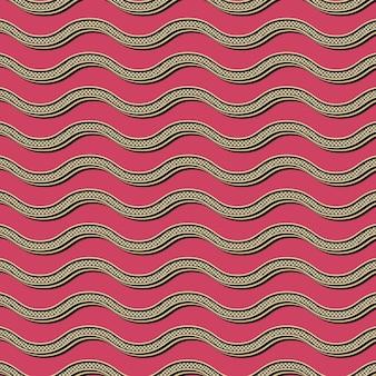 Motif de vagues rétro, arrière-plan géométrique abstrait dans le style des années 80 et 90. illustration simple géométrique