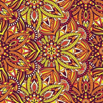 Motif de vecteur de mandala transparente pour l'impression. ornement tribal.