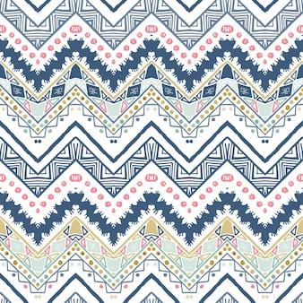 Un motif vectoriel chevron zigzag ethnique sans couture