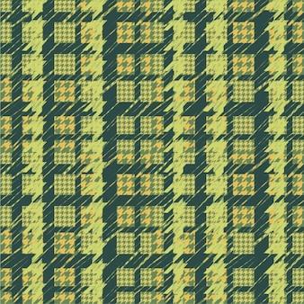 Motif vert avec pied de poule