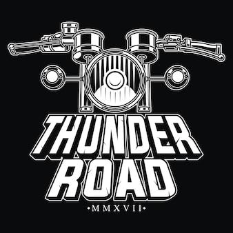 Motif vintage moto pour les vrais motards
