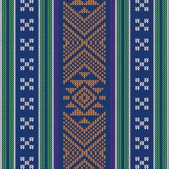 Motif vintage tricoté abstrait