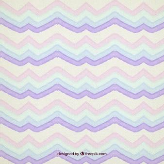 Motif violet aquarelle zig zag