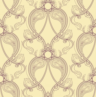 Motif violet rétro