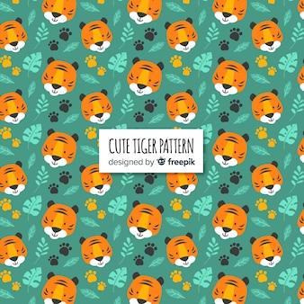 Motif de visages de tigre