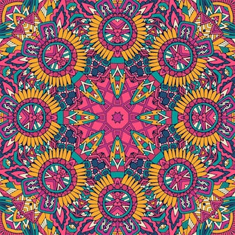 Motif zentangle psychdedlic mexicain