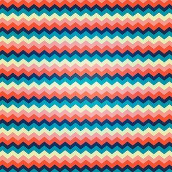 Motif de zigzag avec des couleurs vives
