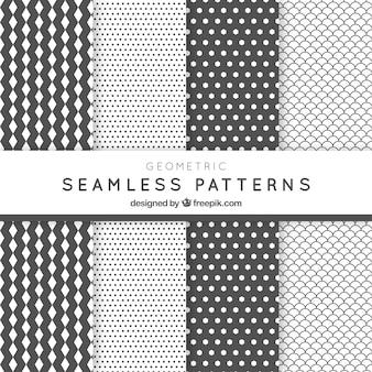 Motifs abstraits blancs et gris emballent