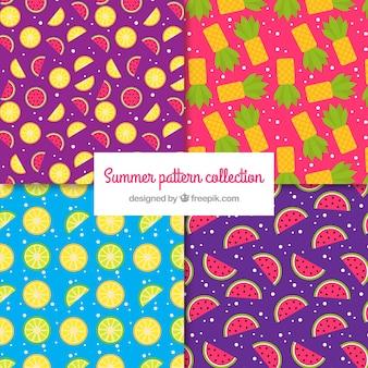 Des motifs colorés de fruits