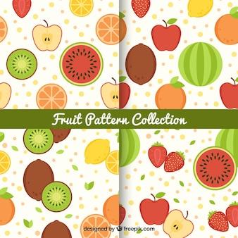 Des motifs colorés avec une variété de fruits