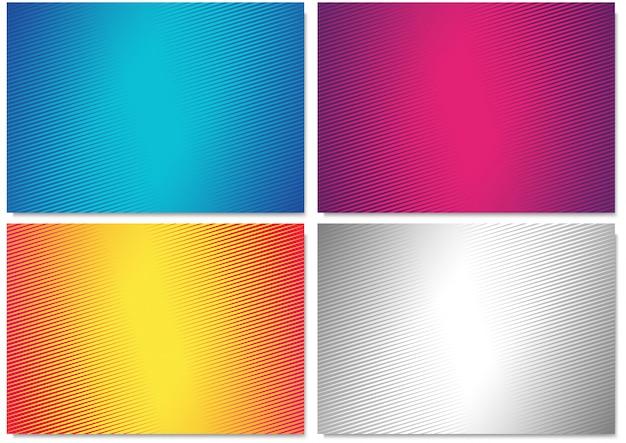 Motifs de couverture géométrique dégradé abstrait