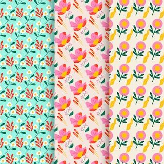 Motifs de fleurs design plat organique