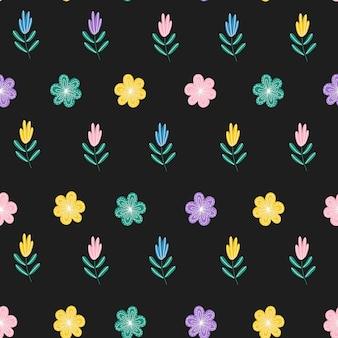 Motifs De Fleurs Mignons Dans Une Petite Fleur Vecteur Premium