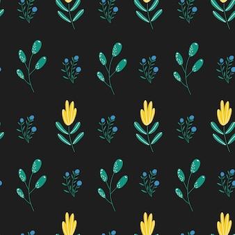 Motifs de fleurs mignons dans une petite fleur