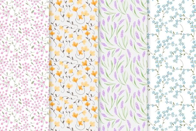 Motifs Floraux Aquarelles Abstraites Vecteur gratuit