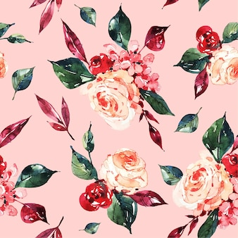 Motifs floraux aquarelles abstraites