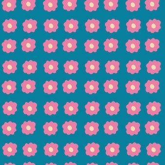 Motifs floraux sans soudure modèle sans couture de fleurs de camomille rose minime