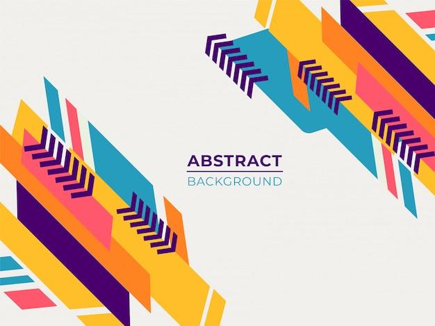 Motifs géométriques abstraites colorées style plat sur fond blanc.