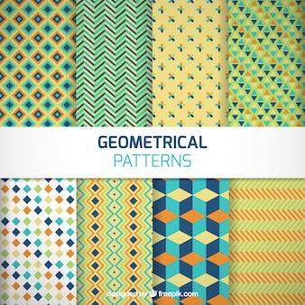 Motifs géométriques colorées emballent