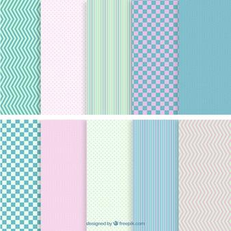 Motifs géométriques colorés