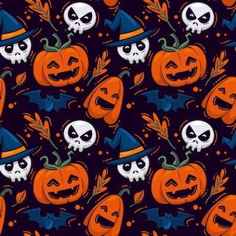 Motifs d'halloween dessinés à la main