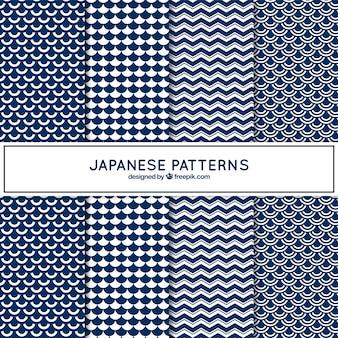 Motifs japonais bleu
