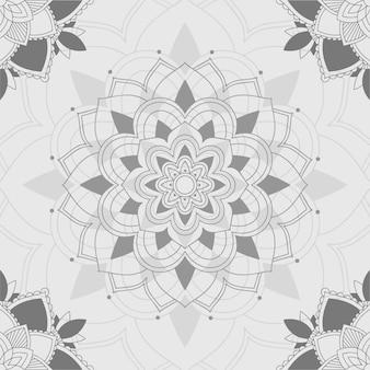 Motifs mandala sur fond gris