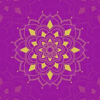 Motifs de mandala sur fond rose