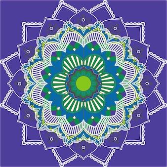 Motifs de mandala sur fond violet