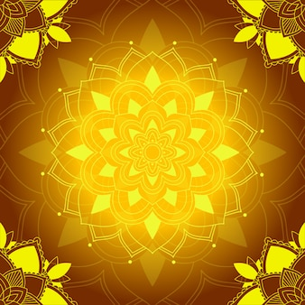 Motifs de mandala sur marron