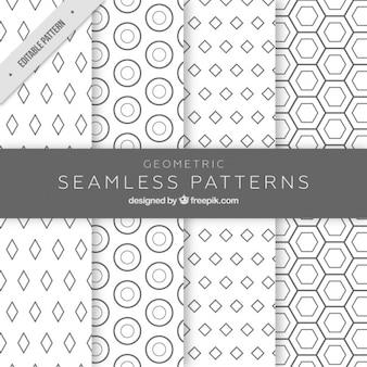 Motifs monochromatiques avec des figures géométriques