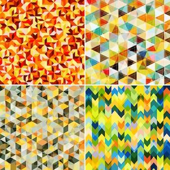 Motifs de mosaïque abstraite