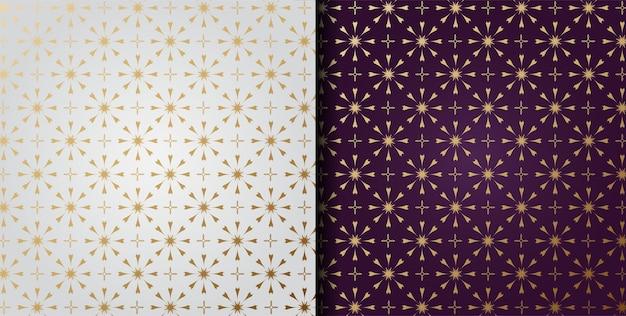 Motifs d'ornement géométrique de luxe