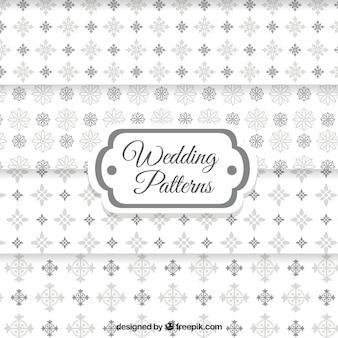 Motifs d'ornement de mariage de fleurs en tons de gris