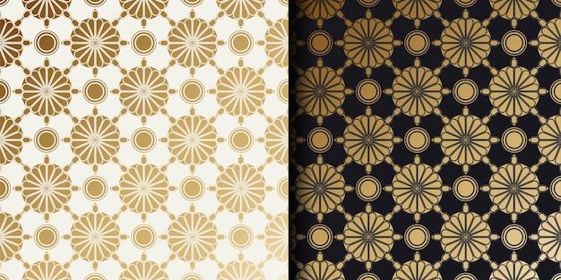 Motifs d'ornements géométriques de luxe