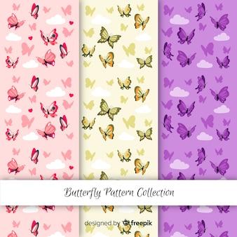 Motifs de papillons colorés