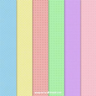 Motifs pointillés dans des couleurs différentes