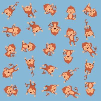 Motifs de singes mignons