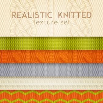 Motifs tricotés réalistes couches horizontales