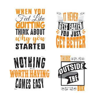 Motivation quote and saying set for graphic goods