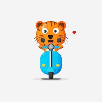 Moto classique mignonne de tour de tigre